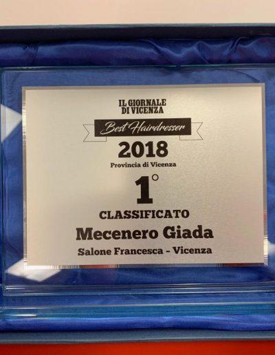Premio Migliore Parrucchiere Vicenza 2018